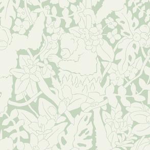 Monkeys pale green