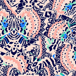 Butterfly Kaleidoscope Jumbo (Navy Mint)