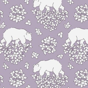 Bears and berries lilac