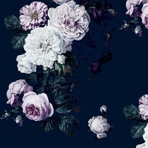dark moody floral jumbo on navy