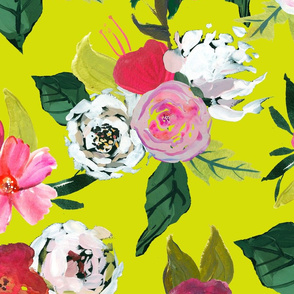 Painted Rose Garden // Chartreuse