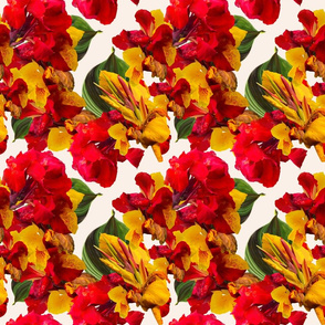 Tropical Bouquet 2 Print-cream