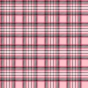small pink tartan : 50% scale