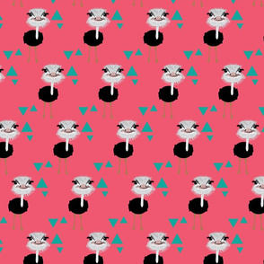 Emu Triangles in Pink Larger Print