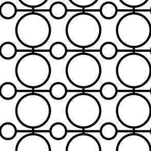 geo circles - black and white