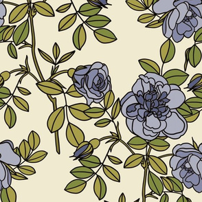 Climbing roses in blueberry- small