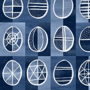Easter Egg Batik / Indigo