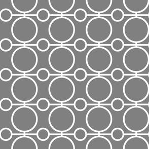 geo circles - white and gray
