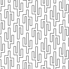 geo cactus outline