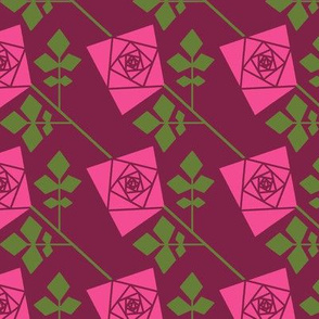 The Geometry of Roses - solid pink