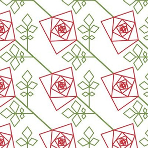 The Geometry of Roses - red outlines