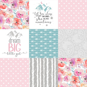 Dream Big Little Girl//Let Her Sleep - Wholecloth Cheater Quilt