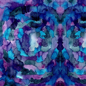 Purple and Blue Watercolor