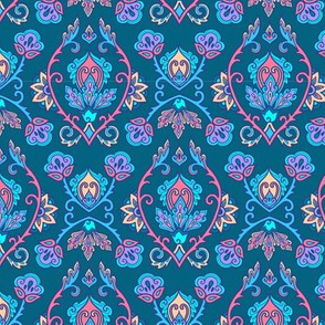 Blue turkish style ornament