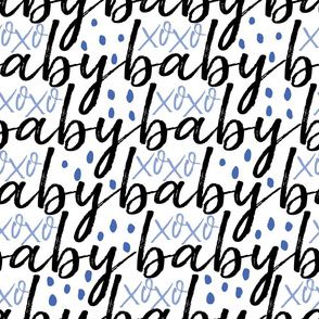 Black and Blue Baby Gift Wrap