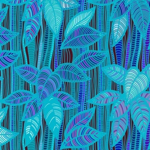 Foliage - Turquoise Bamboo - Design Challenge