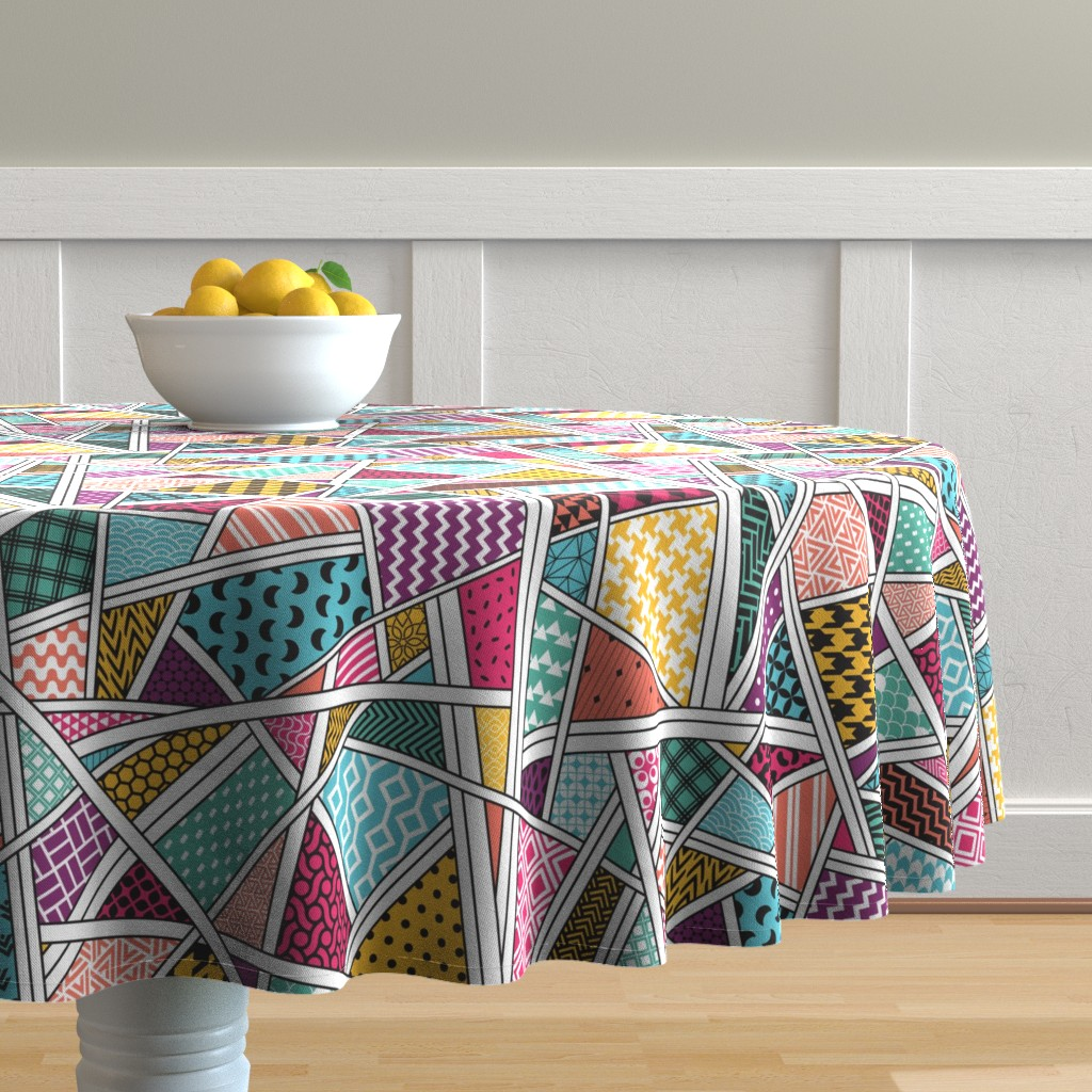 Malay Round Tablecloth featuring A bit of everything by doodlena