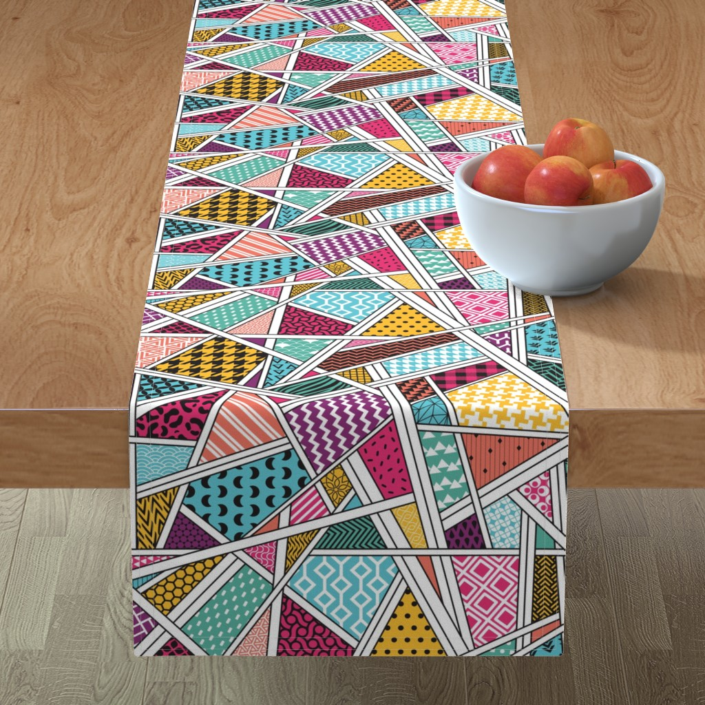 Minorca Table Runner featuring A bit of everything by doodlena