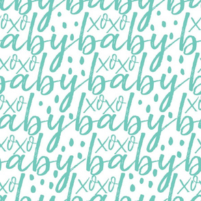 Teal Baby Gift Wrap