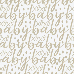Tan and Grey Baby Gift Wrap