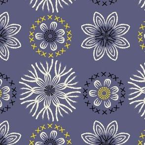 Folksy Flowers ~ Periwinkle Blue