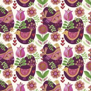 Pysanky Birds and Flowers