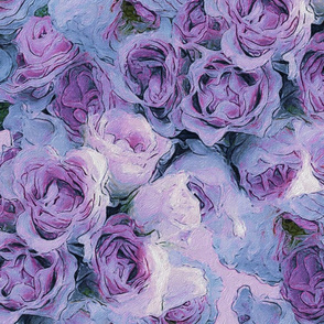 fancy florals in pinks and purples