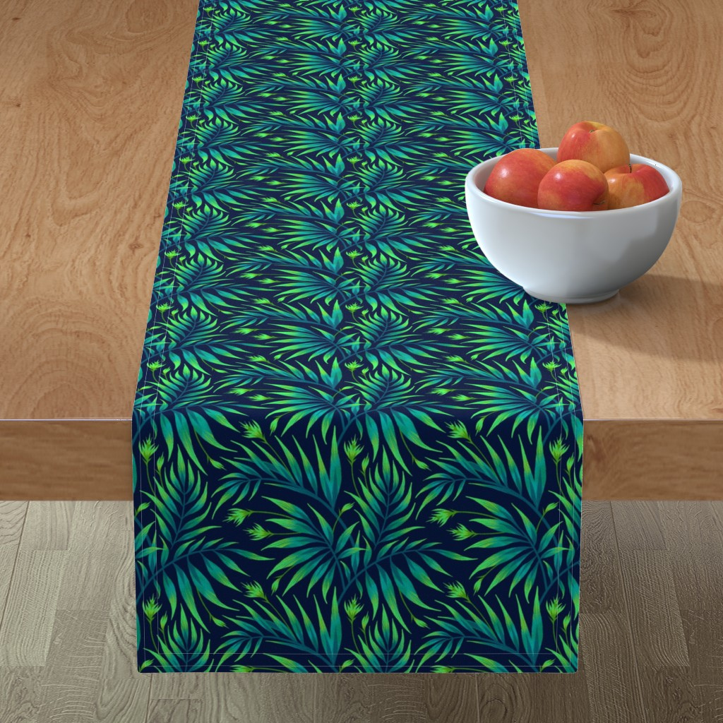 Minorca Table Runner featuring Waikiki Palm - Green - AM2019 by andreaalice