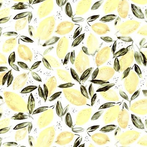 Lemon's orchard || watercolor