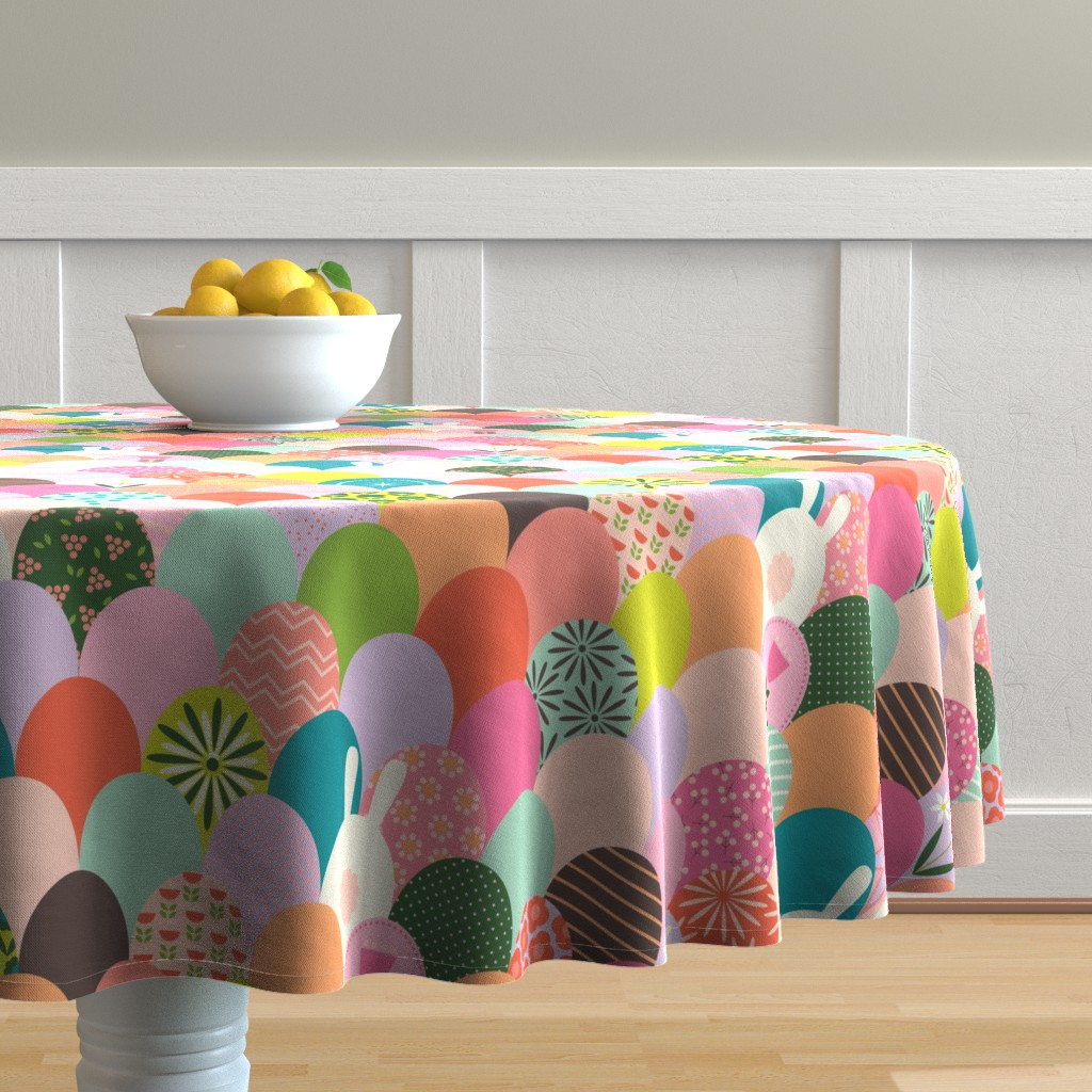 Malay Round Tablecloth featuring Cotton Bottoms by katerhees