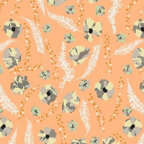 Moody Florals Cantaloupe Orange Large