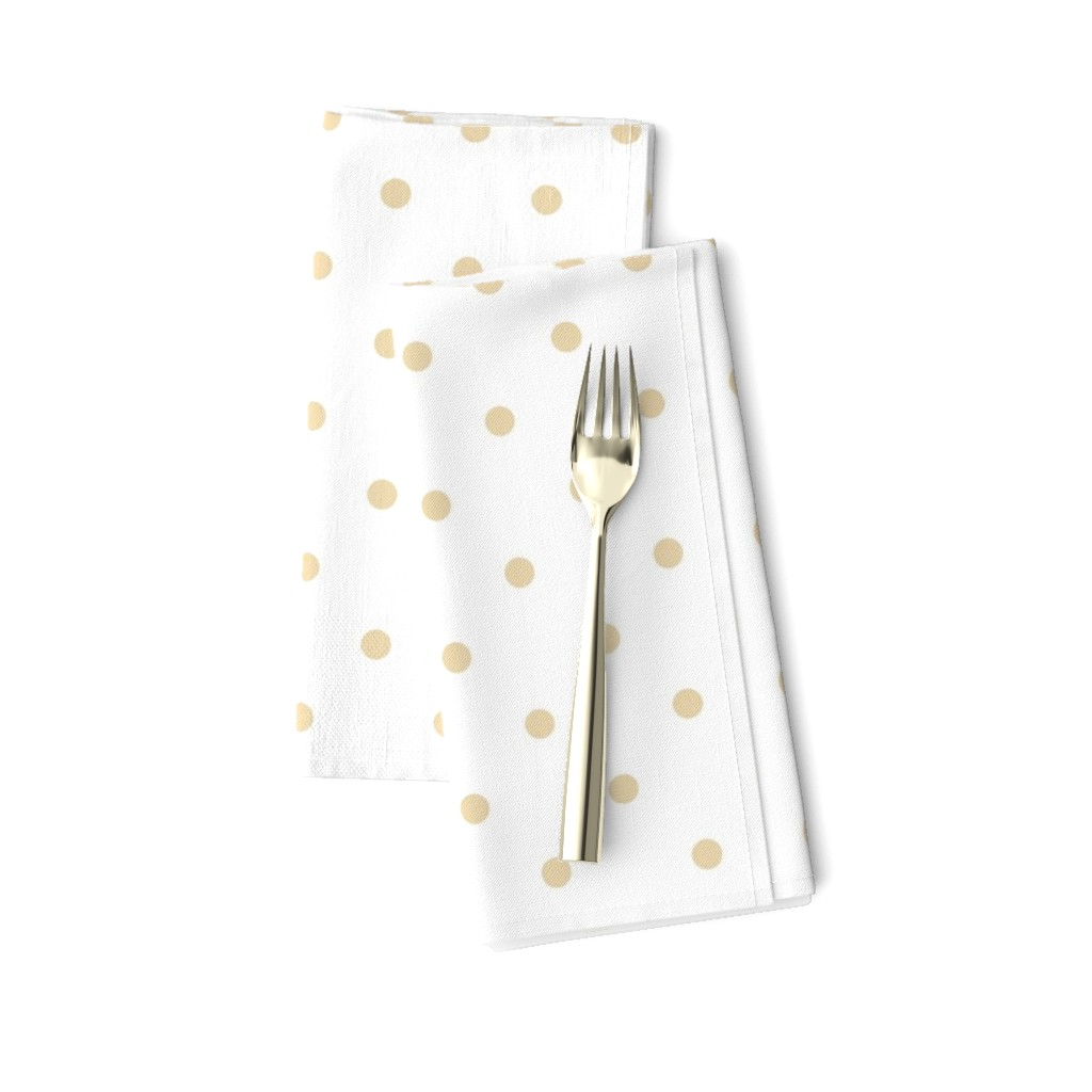 Amarela Dinner Napkins featuring Polka Dotties// Biscuit by theartwerks