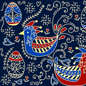 the chicken or the pysanky egg