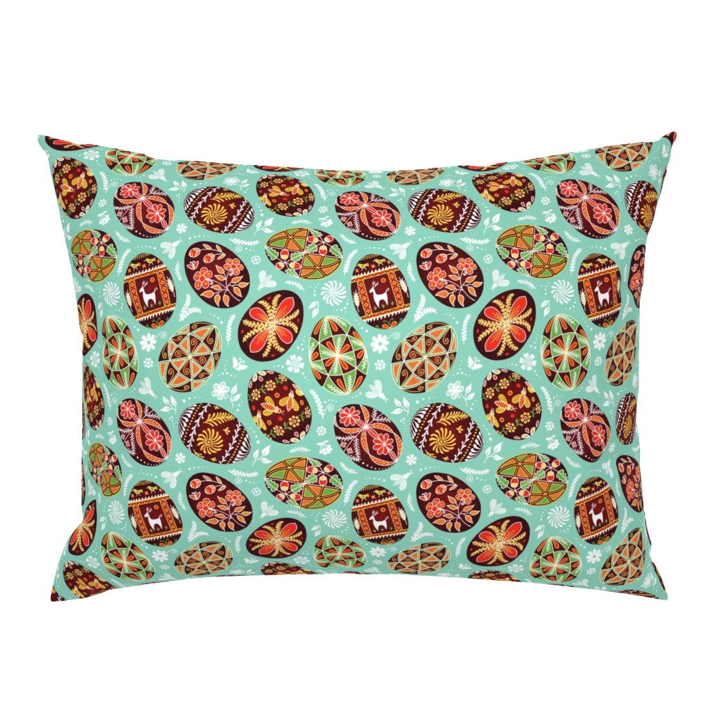 Campine Pillow Sham featuring Pysanky - Symbols of Life by nadyabasos