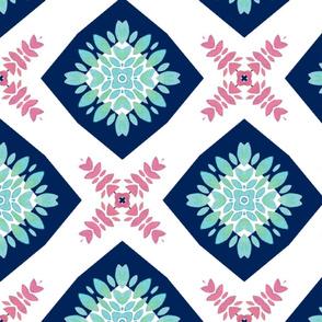 Floral Tile Pink