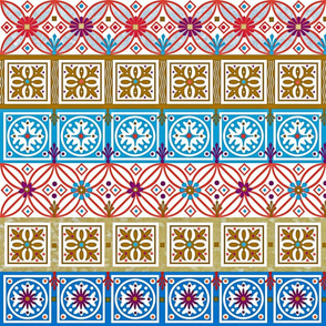 pysanky red blue