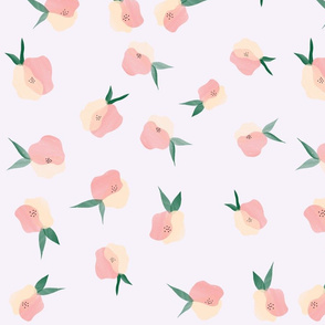 Peach and Coral Floral