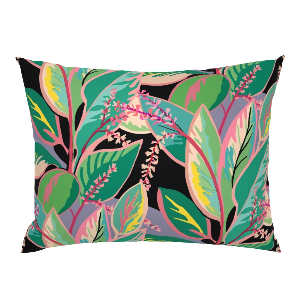 Campine Pillow Sham featuring Tropical T-leaf bloom by maliuana