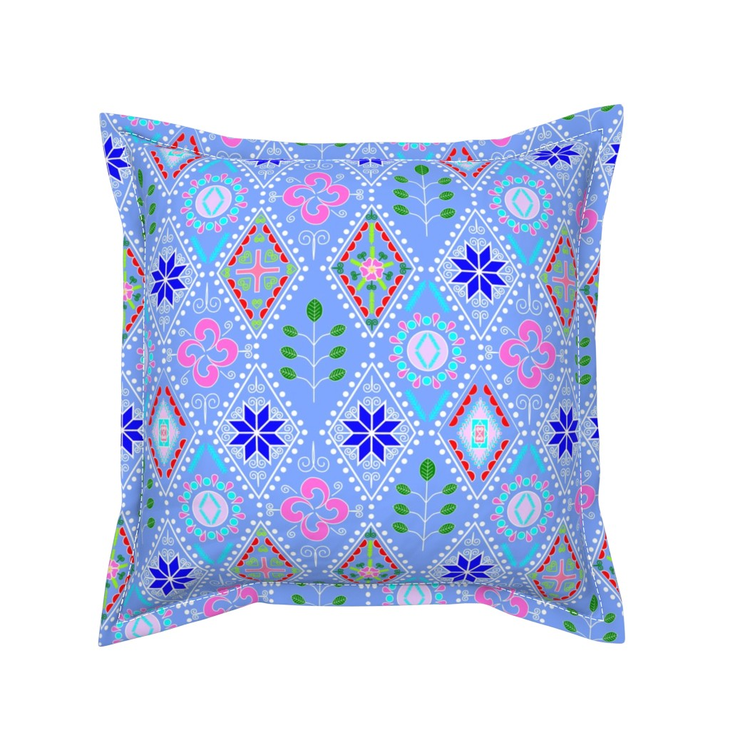 Serama Throw Pillow featuring Diamania by merry_makewell_designs
