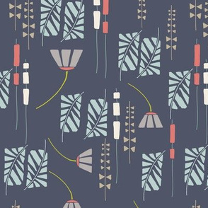 Mod Botanical - Navy