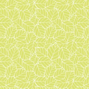 Light green overlapping leaf pattern