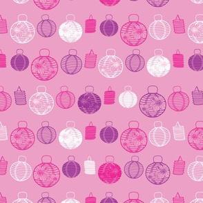 Pink paper lanterns pattern