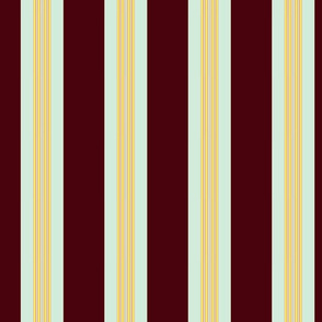 Stripe, burgundy mint yellow pink