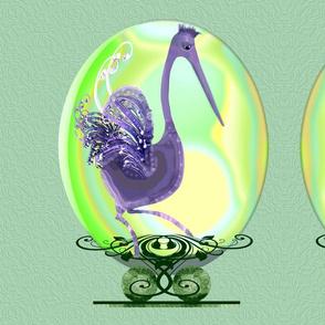 Egret on Egg:Whimzpix Creation G101.1