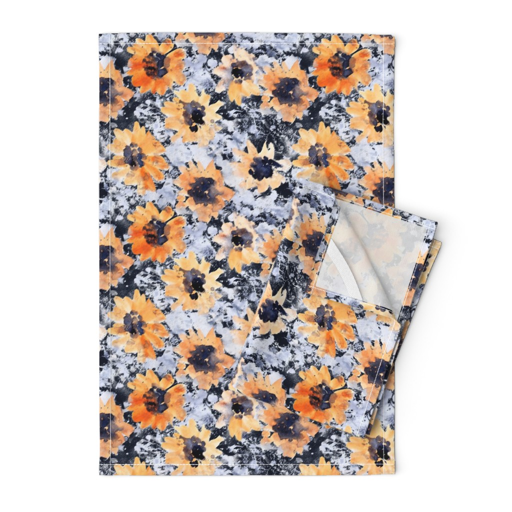 Orpington Tea Towels featuring Yellowflowers by susanna_nousiainen
