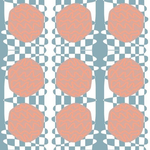 Checkerboard Squiggles