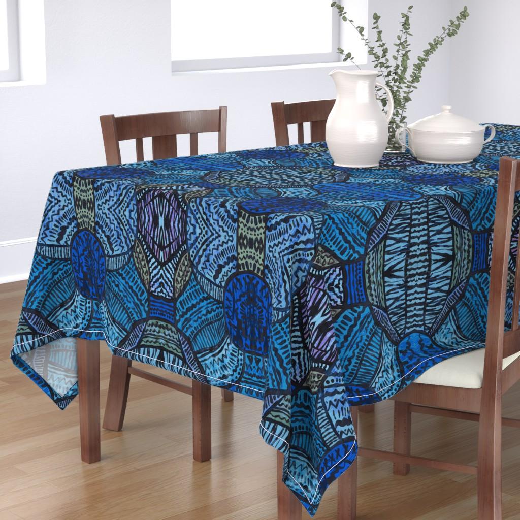 Bantam Rectangular Tablecloth featuring HelloDesert by susanna_nousiainen