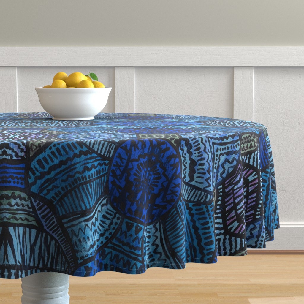 Malay Round Tablecloth featuring HelloDesert by susanna_nousiainen