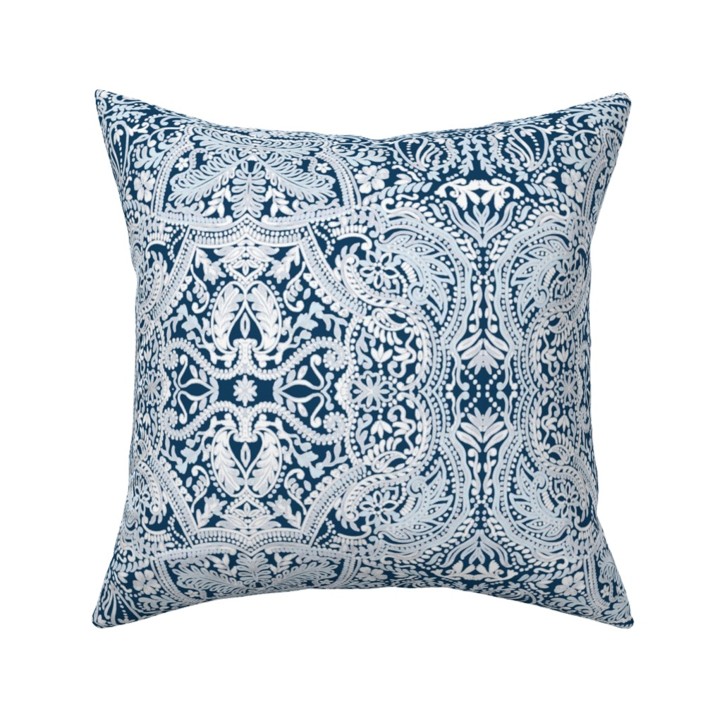Catalan Throw Pillow featuring Paisleylace by susanna_nousiainen