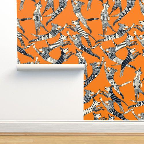 Wallpaper dog party turmeric
